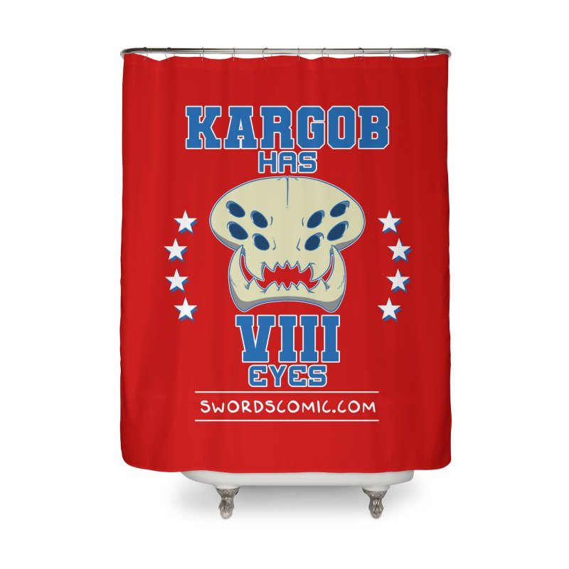 Team VIII Eyes Home Shower Curtain by Swords Comics : The Store