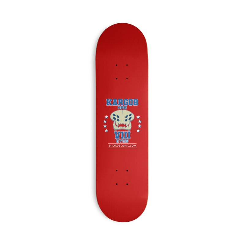Team VIII Eyes Accessories Skateboard by Swords Comics : The Store