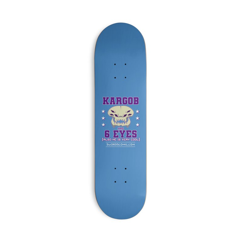 Team VI Eyes Accessories Skateboard by Swords Comics : The Store