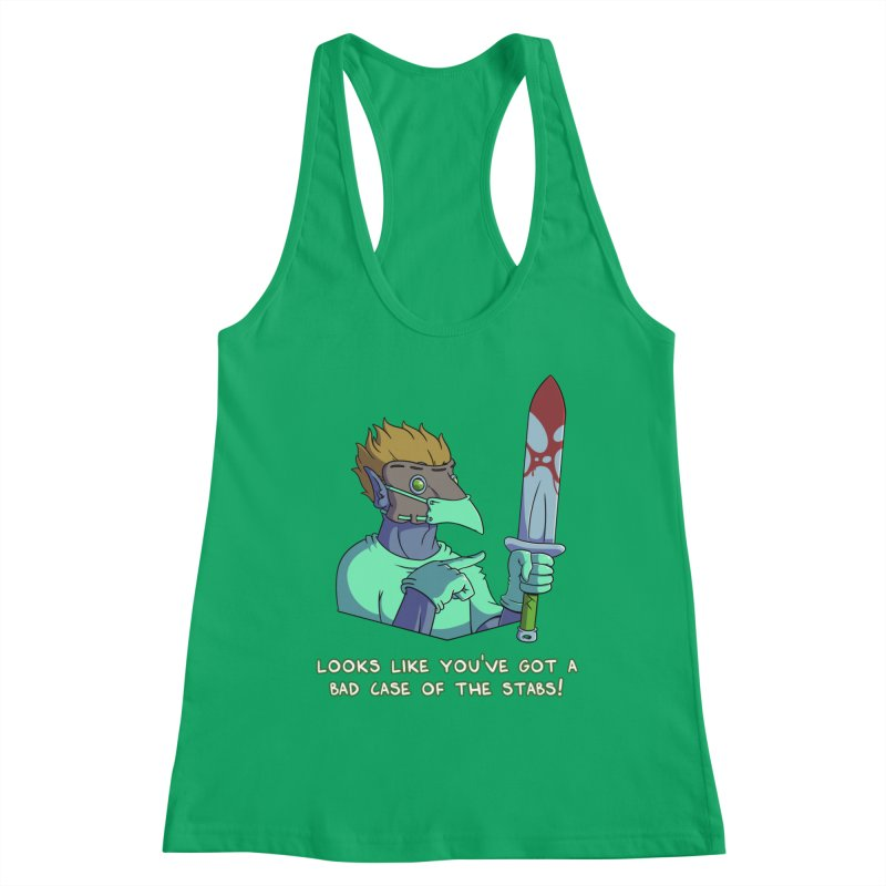 Plague Doctor Quote Edition (w/ Bloody Sword) Women's Tank by Swords Comics : The Store