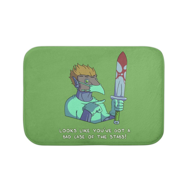 Plague Doctor Quote Edition (w/ Bloody Sword) Home Bath Mat by Swords Comics : The Store