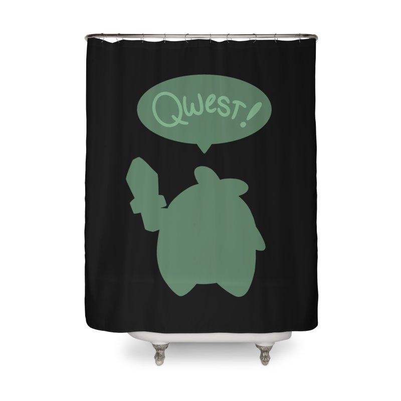 Subtle Qwest Home Shower Curtain by Swords Comics : The Store