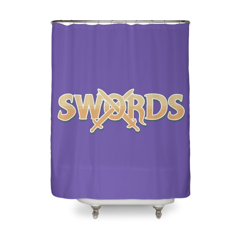 Swords Logo Home Shower Curtain by Swords Comics : The Store