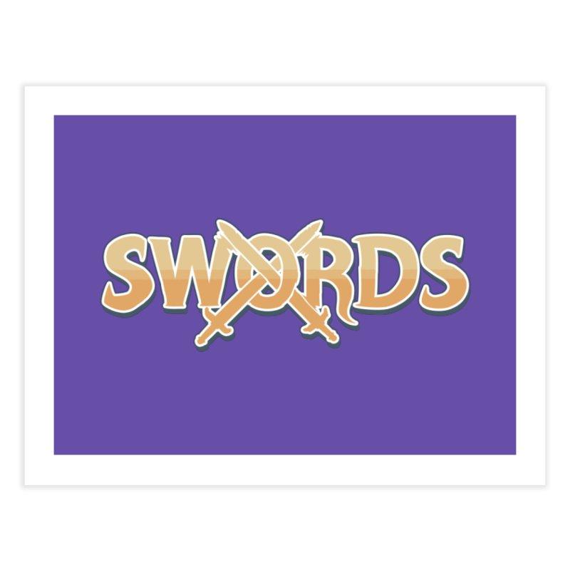 Swords Logo Home Fine Art Print by Swords Comics : The Store