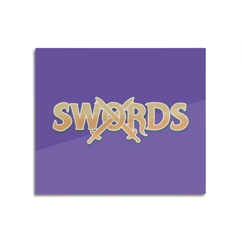 Swords Logo Home Mounted Aluminum Print by Swords Comics : The Store