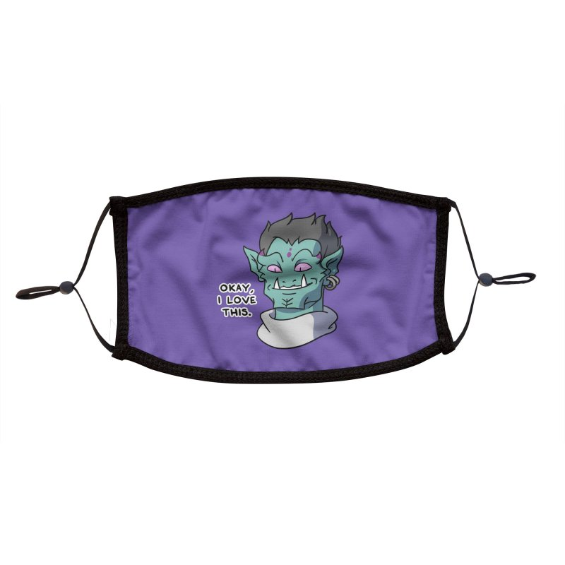 Okay, I love this. Accessories Face Mask by Swords Comics : The Store
