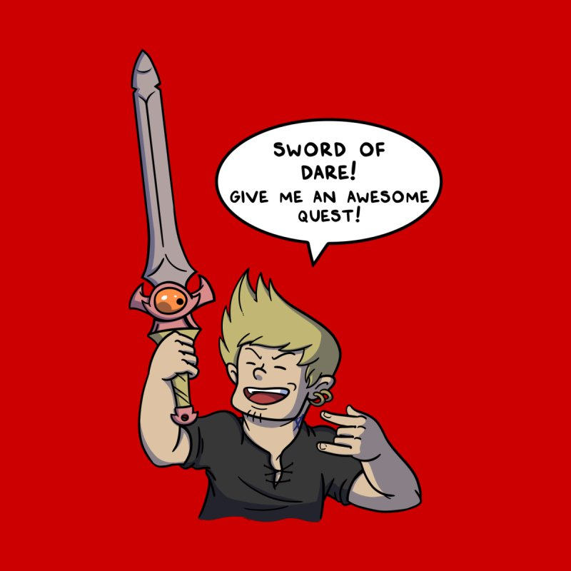 Sword of Dare, Give Me An Awesome Quest! Men's T-Shirt by Swords Comics : The Store