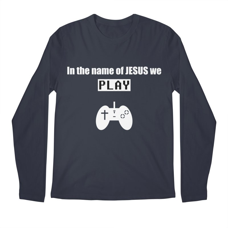 In the name of JESUS we Play - blk Men's Longsleeve T-Shirt by SwordSharp.com Shop