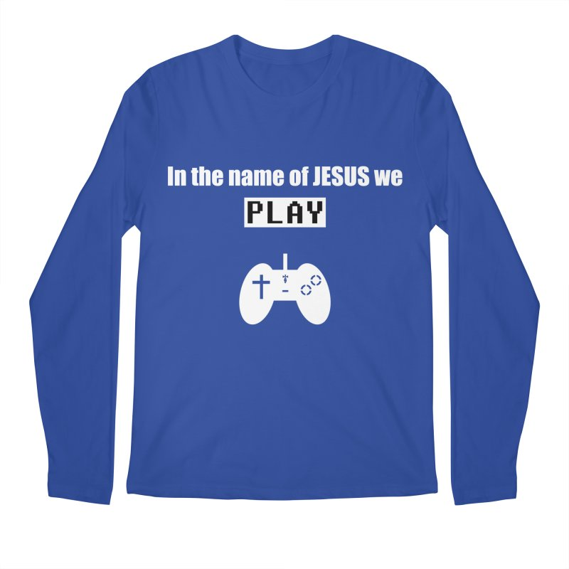 In the name of JESUS we Play - blk Men's Regular Longsleeve T-Shirt by SwordSharp.com Shop