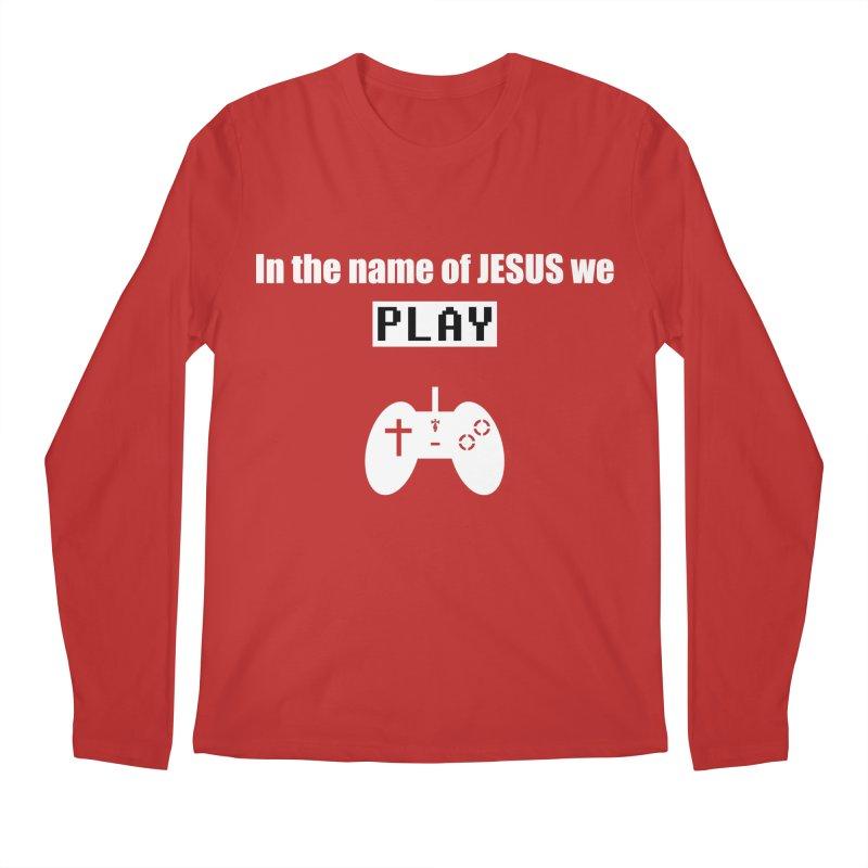 In the name of JESUS we Play - blk Men's Regular Longsleeve T-Shirt by SwordSharp.com Shop