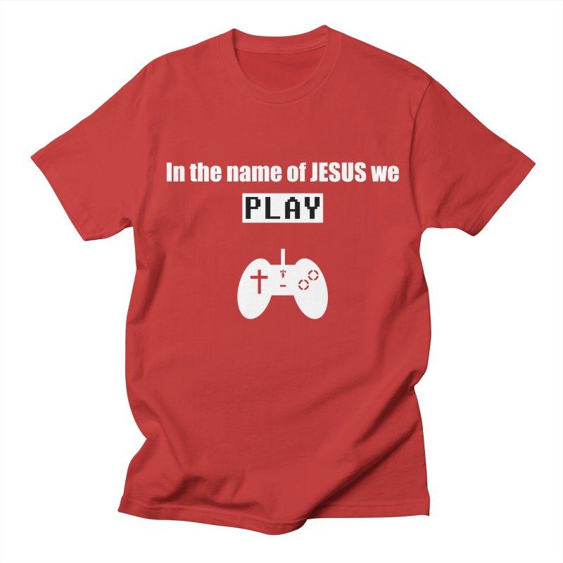 In the name of JESUS we Play - blk Men's T-Shirt by SwordSharp.com Shop