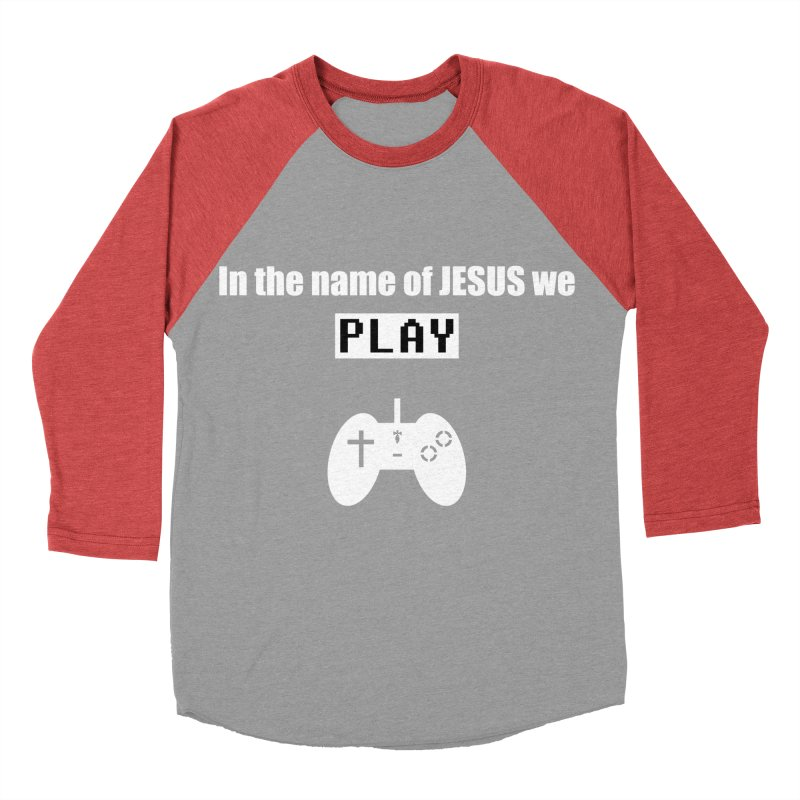 In the name of JESUS we Play - blk Women's Baseball Triblend T-Shirt by SwordSharp.com Shop