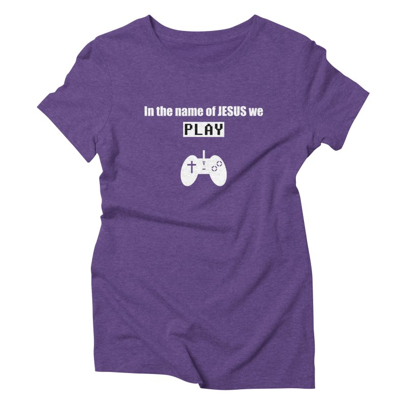 In the name of JESUS we Play - blk Women's Triblend T-Shirt by SwordSharp.com Shop