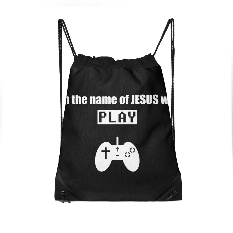 In the name of JESUS we Play - blk Accessories Bag by SwordSharp.com Shop