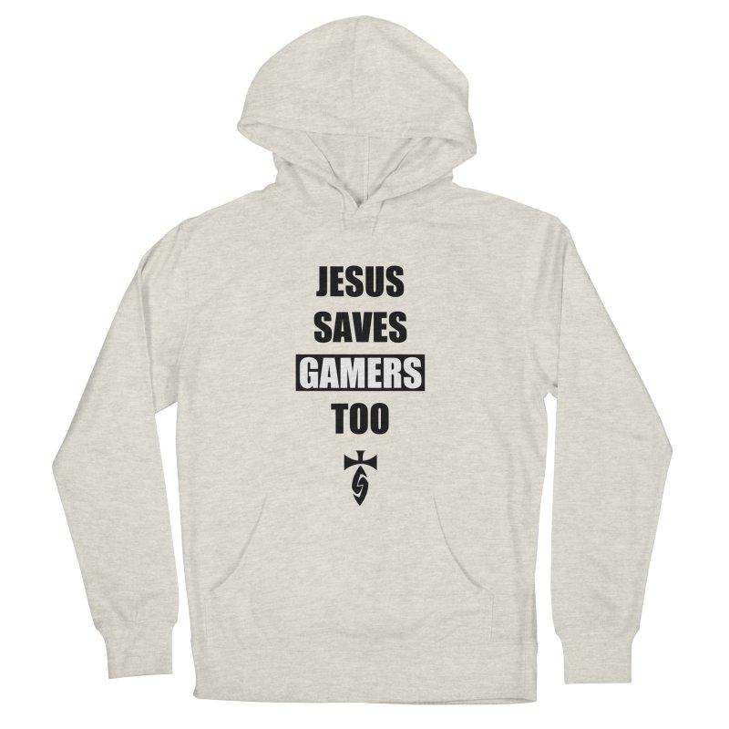 Jesus Saves Gamers Too! Men's Pullover Hoody by SwordSharp.com Shop