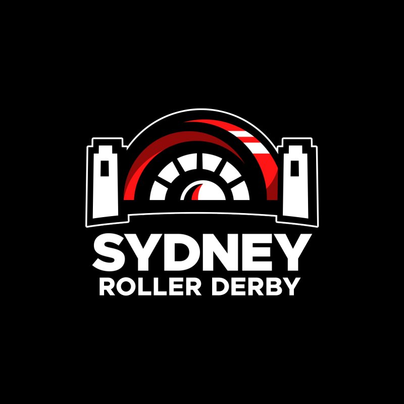 Sydney Roller Derby - Black Men's T-Shirt by Sydney Roller Derby League Merchandise
