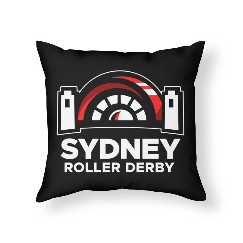 Sydney Roller Derby - Black Home Throw Pillow by Sydney Roller Derby League Merchandise