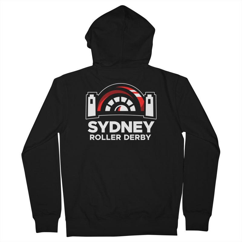 Sydney Roller Derby - Black Men's French Terry Zip-Up Hoody by Sydney Roller Derby League Merchandise