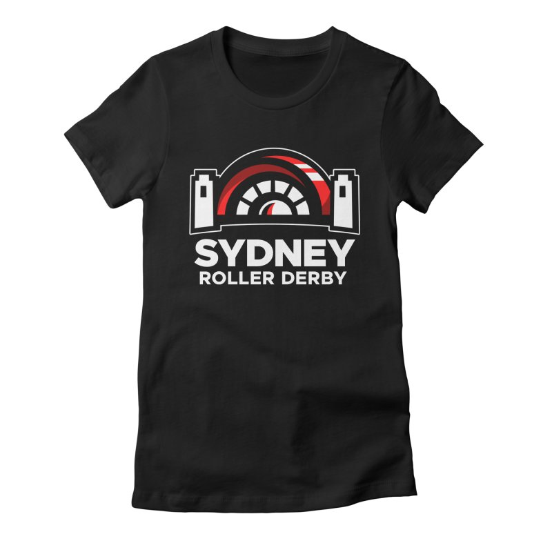 Sydney Roller Derby - Black Women's Fitted T-Shirt by Sydney Roller Derby League Merchandise