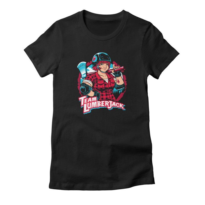 Team Lumberjack Women's Fitted T-Shirt by Sydney Roller Derby League Merchandise