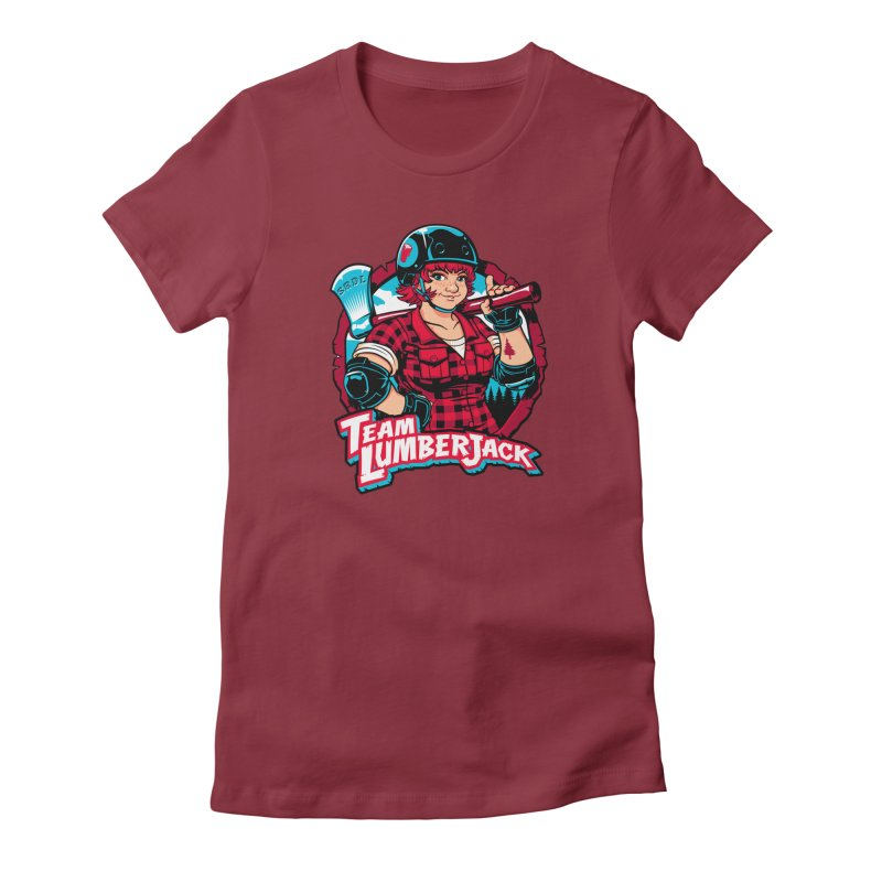 Team Lumberjack Women's Fitted T-Shirt by Sydney Roller Derby League Merchandise