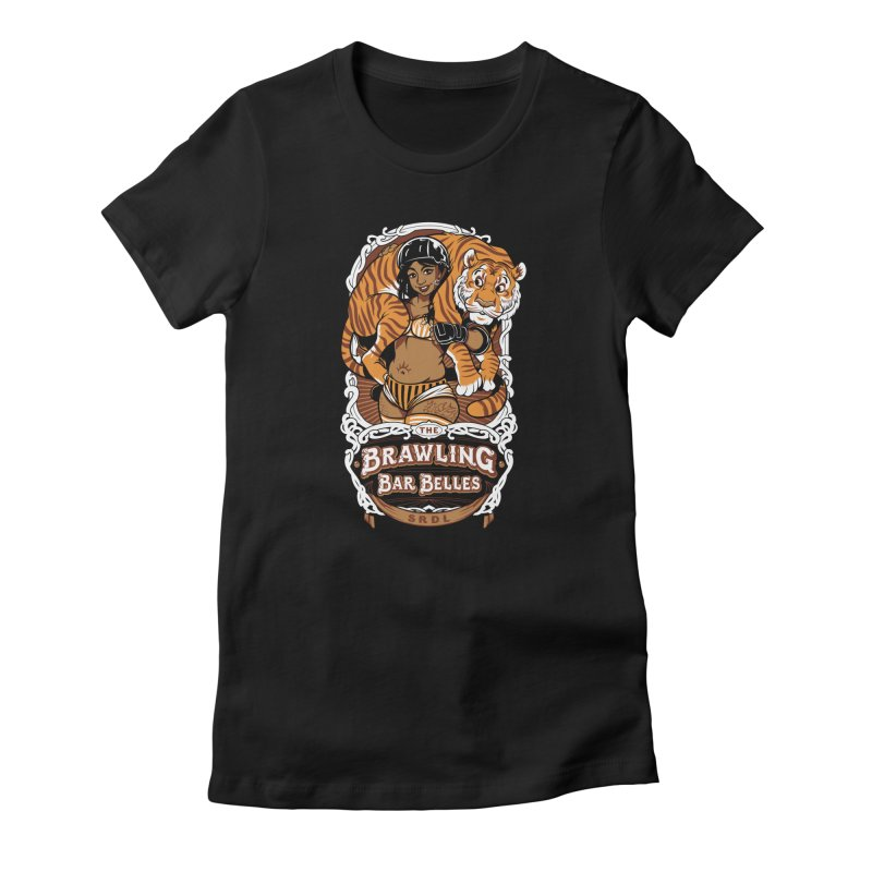 Brawling Bar Belles Women's Fitted T-Shirt by Sydney Roller Derby League Merchandise