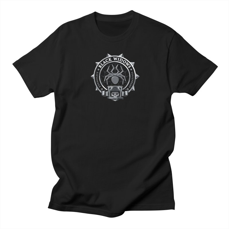 Black Widows Men's Regular T-Shirt by Sydney Roller Derby League Merchandise