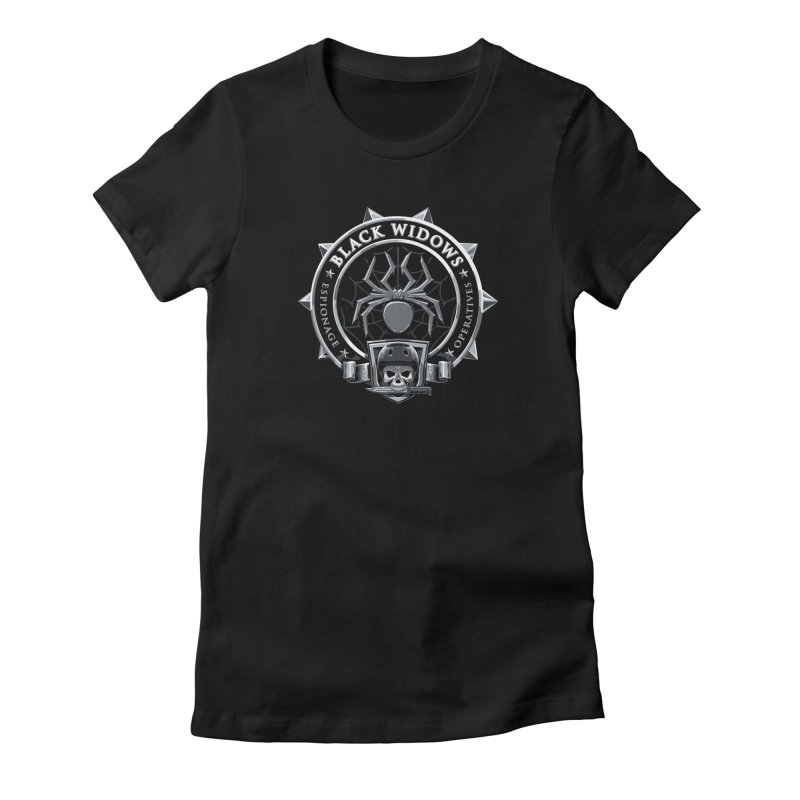 Black Widows Women's T-Shirt by Sydney Roller Derby League Merchandise
