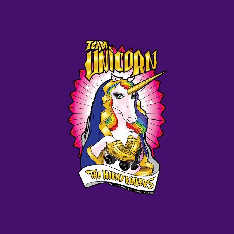 Team Unicorn Men's T-Shirt by Sydney Roller Derby League Merchandise