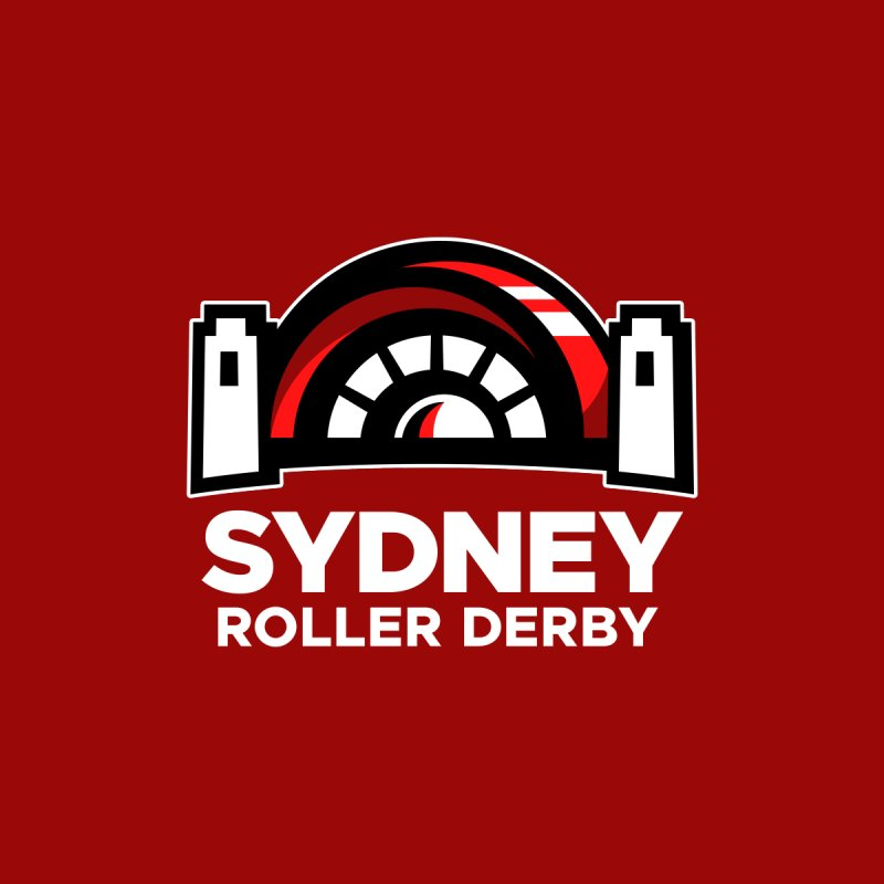 Sydney Roller Derby - Red Men's T-Shirt by Sydney Roller Derby League Merchandise