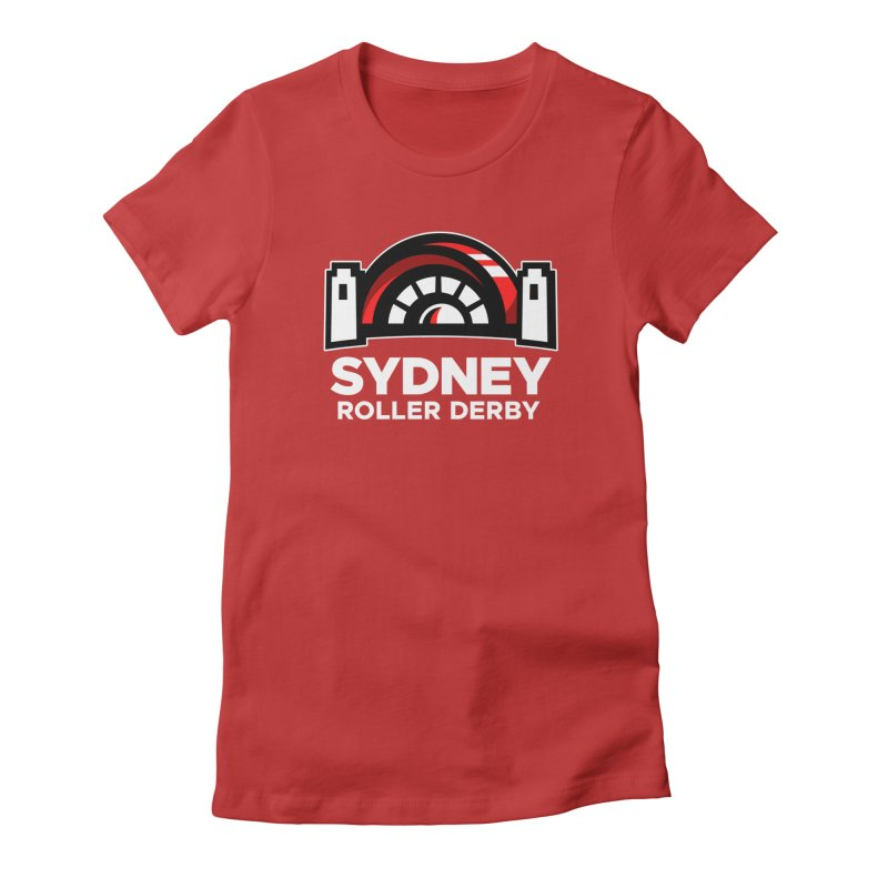 Sydney Roller Derby - Red Women's Fitted T-Shirt by Sydney Roller Derby League Merchandise