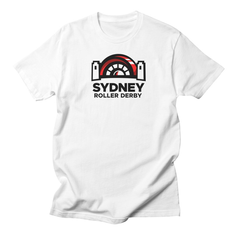 Sydney Roller Derby - White Men's T-Shirt by Sydney Roller Derby League Merchandise