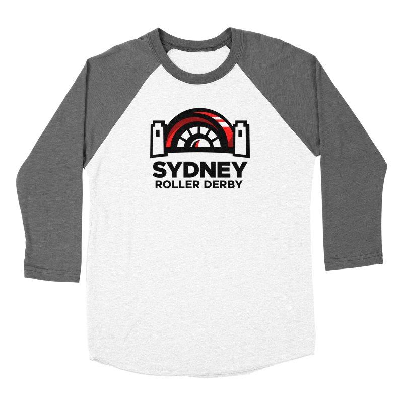 Sydney Roller Derby - White Men's Baseball Triblend Longsleeve T-Shirt by Sydney Roller Derby League Merchandise