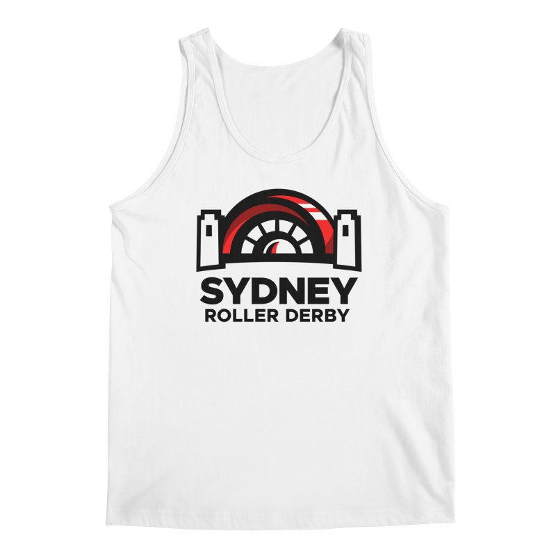 Sydney Roller Derby - White Men's Tank by Sydney Roller Derby League Merchandise