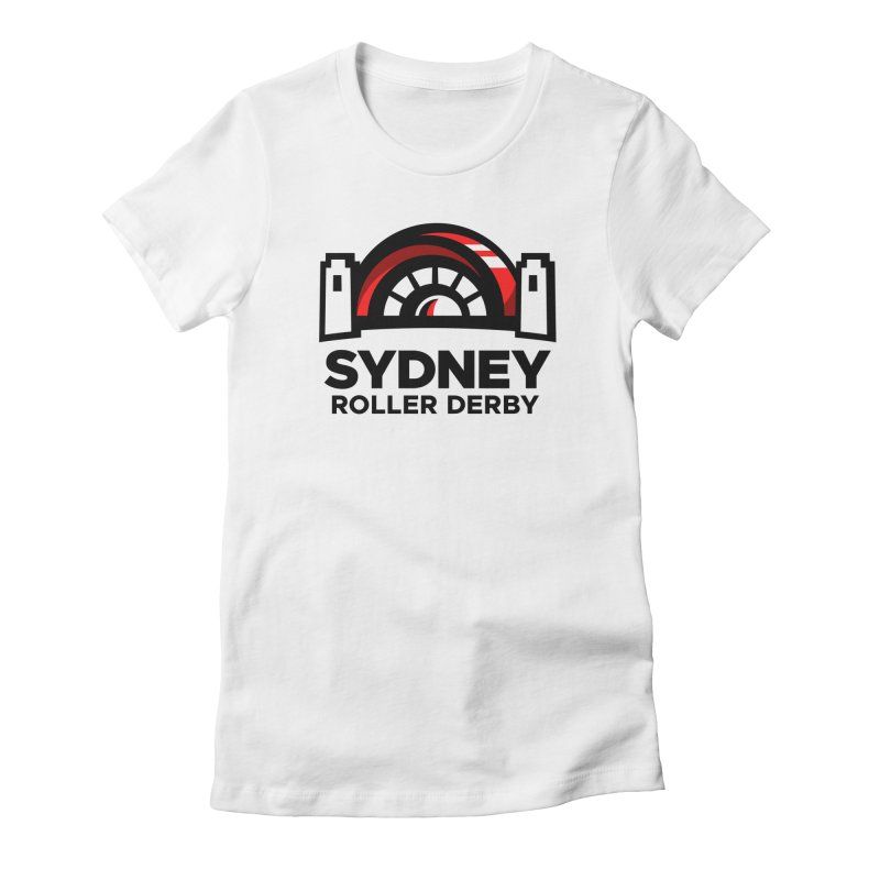 Sydney Roller Derby - White Women's Fitted T-Shirt by Sydney Roller Derby League Merchandise