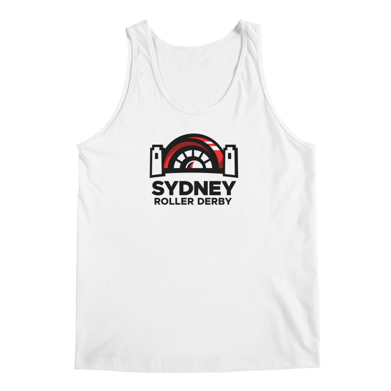 Sydney Roller Derby - White Men's Regular Tank by Sydney Roller Derby League Merchandise