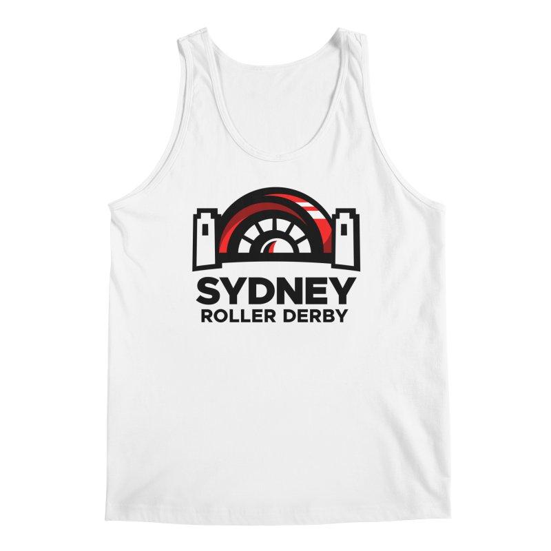 Sydney Roller Derby - White Men's Regular Tank by Sydney Roller Derby League Merchandise