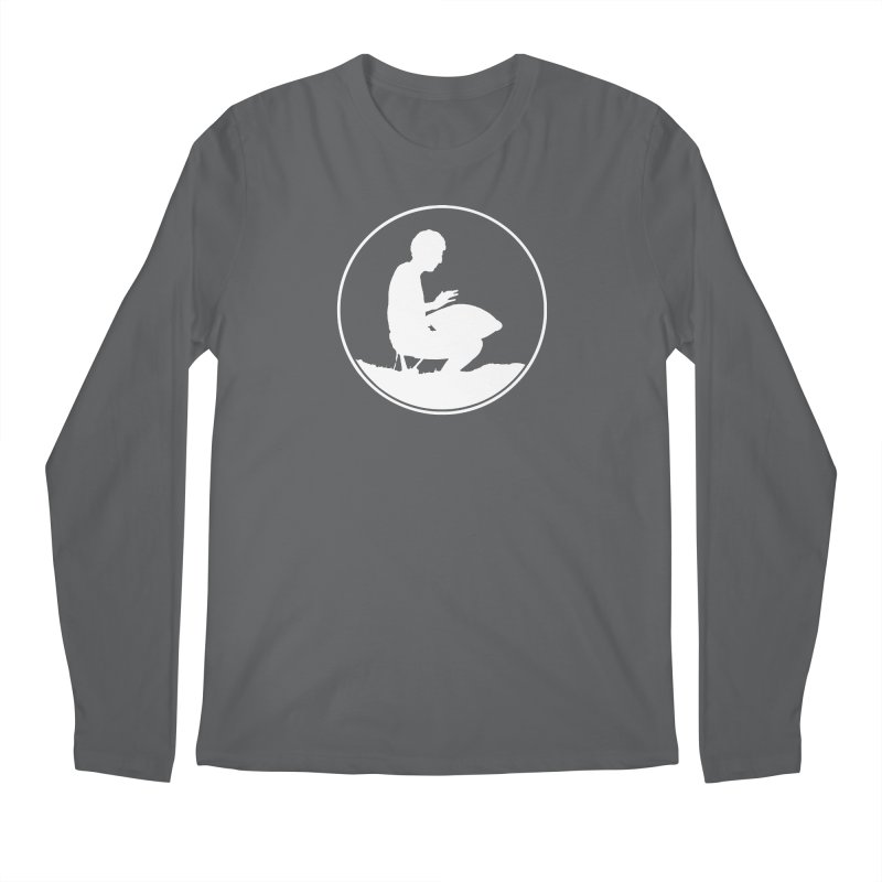 Silhouette (White) Men's Longsleeve T-Shirt by Handpan Merch (T-shirts, Hoodies, Accessories)