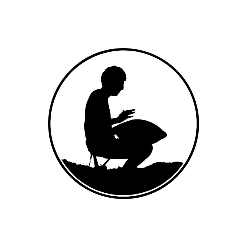 Silhouette (Black) Men's Longsleeve T-Shirt by Handpan Merch (T-shirts, Hoodies, Accessories)
