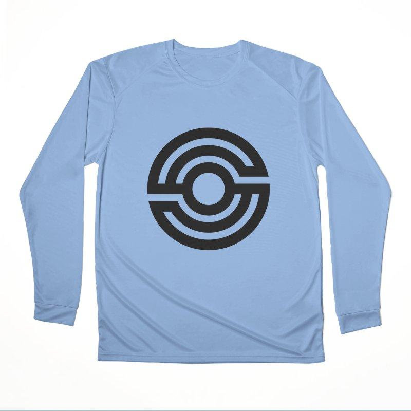 Handpan S Logo (Black) Men's Performance Longsleeve T-Shirt by Handpan Merch (T-shirts, Hoodies, Accessories)