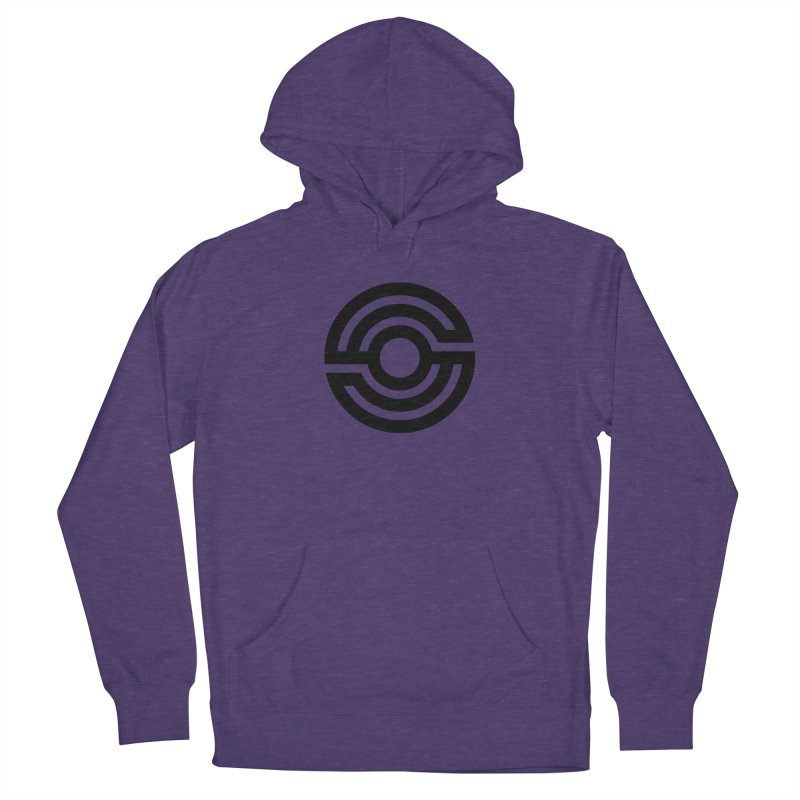 Handpan S Logo (Black) Women's French Terry Pullover Hoody by Handpan Merch (T-shirts, Hoodies, Accessories)