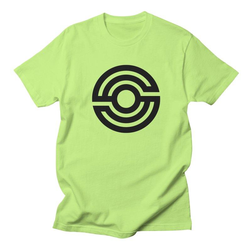 Handpan S Logo (Black) Men's Regular T-Shirt by Handpan Merch (T-shirts, Hoodies, Accessories)