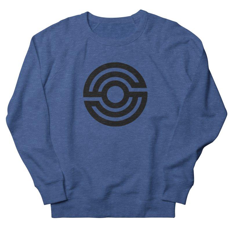 Handpan S Logo (Black) Women's French Terry Sweatshirt by Handpan Merch (T-shirts, Hoodies, Accessories)