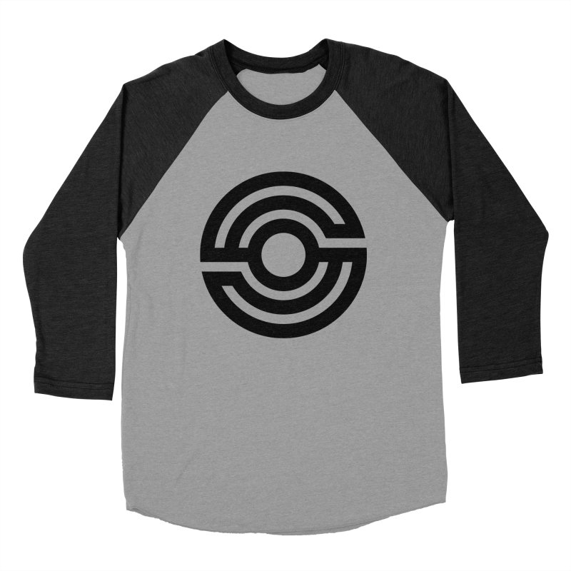 Handpan S Logo (Black) Women's Baseball Triblend Longsleeve T-Shirt by Handpan Merch (T-shirts, Hoodies, Accessories)