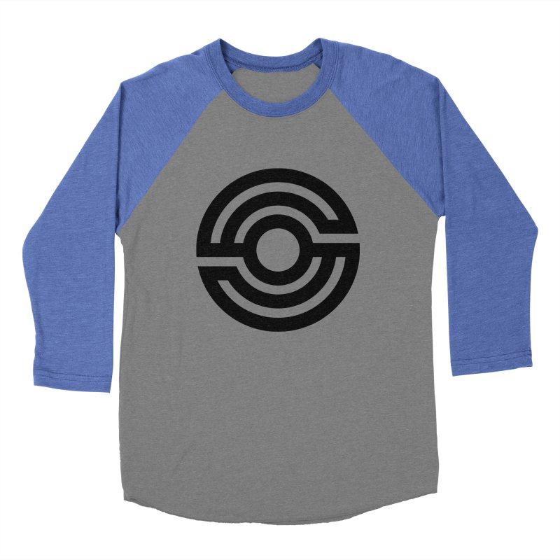 Handpan S Logo (Black) Men's Baseball Triblend Longsleeve T-Shirt by Handpan Merch (T-shirts, Hoodies, Accessories)