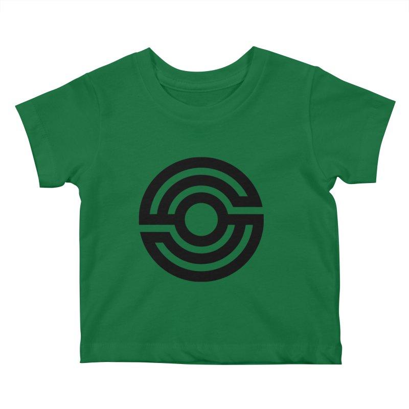 Handpan S Logo (Black) Kids Baby T-Shirt by Handpan Merch (T-shirts, Hoodies, Accessories)