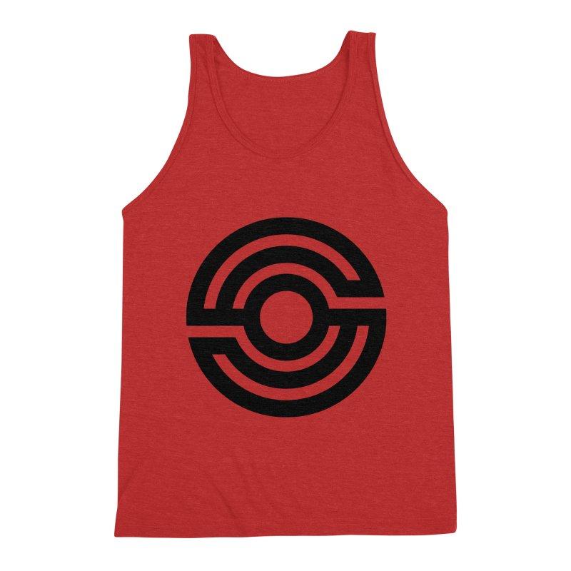 Handpan S Logo (Black) Men's Triblend Tank by Handpan Merch (T-shirts, Hoodies, Accessories)