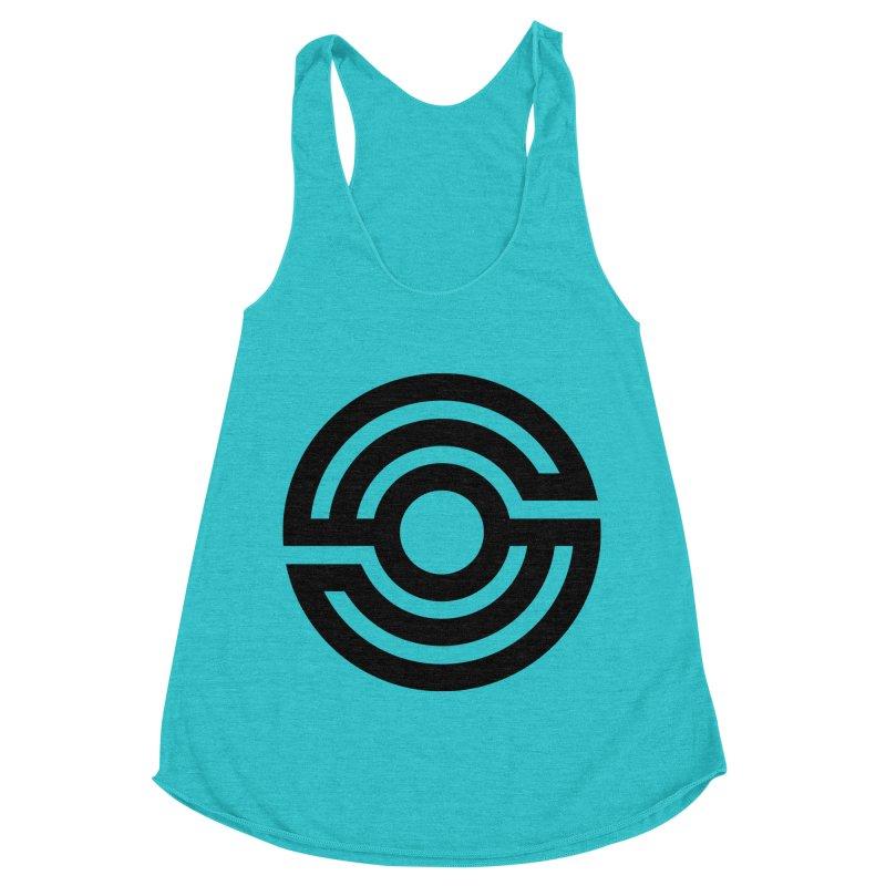 Handpan S Logo (Black) Women's Racerback Triblend Tank by Handpan Merch (T-shirts, Hoodies, Accessories)