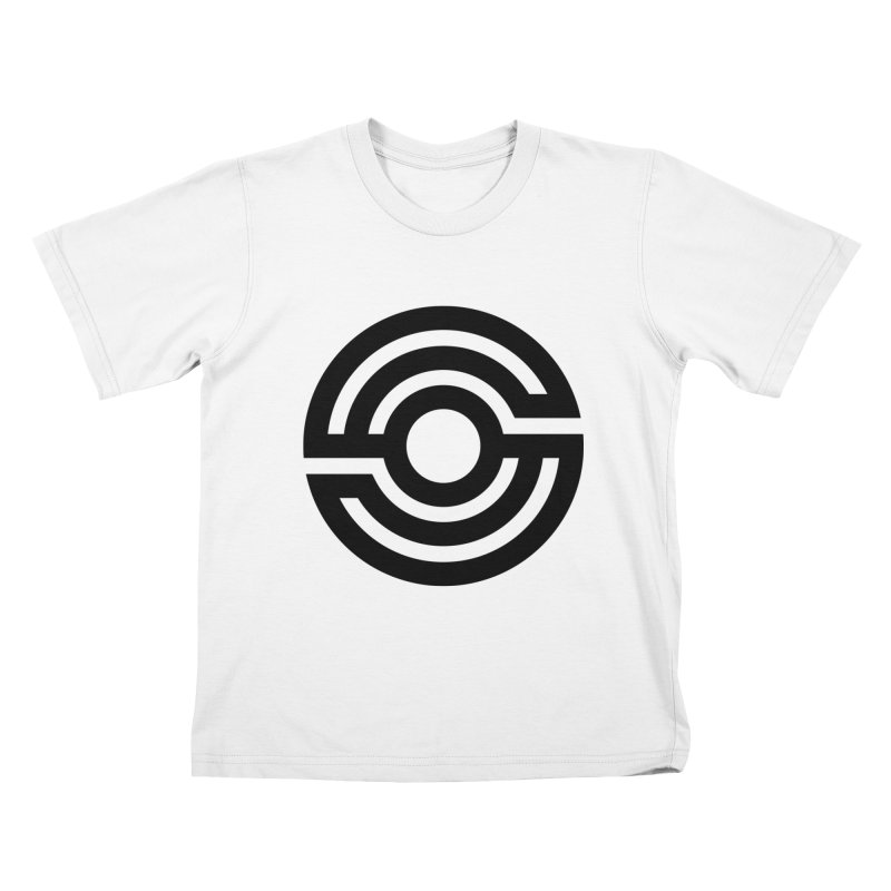 Handpan S Logo (Black) Kids T-Shirt by Handpan Merch (T-shirts, Hoodies, Accessories)