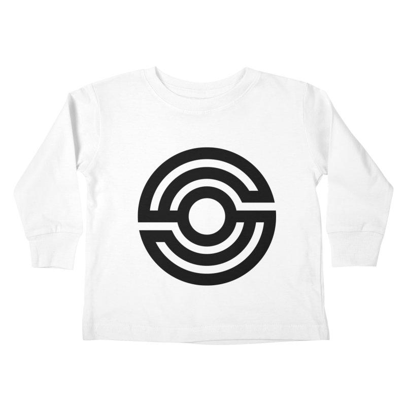 Handpan S Logo (Black) Kids Toddler Longsleeve T-Shirt by Handpan Merch (T-shirts, Hoodies, Accessories)